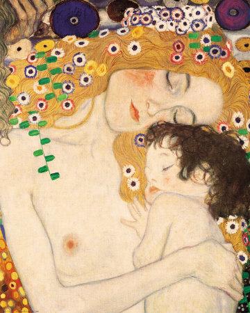 Gustav Klimt Madre e Figlio