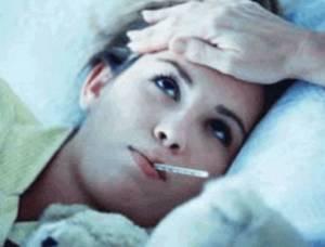 Ragazza con la febbre